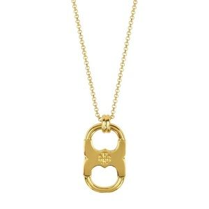 Tory Burch Gold Gemini Link Pendant Necklace